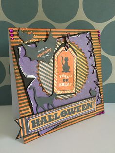 A quick and easy Halloween make using docrafts download papers.