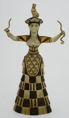 Unknown Artist, Reproduction of Minoan Snake Goddess Figure, 19th-20th centuries   Harvard Art Museums/ Sackler Museum