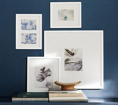Shop wood gallery frames from Pottery Barn. Our furniture, home decor and accessories collections feature wood gallery frames in quality materials and classic styles. Pottery Barn, Diploma Display, Display Family Photos, Family Photos On Wall, Bedroom Decor, Wall Decor, Master Bedroom, Wall Art, Found Art
