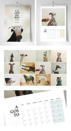Calendario Galgoastur 2014 / Fotos: Iris Rodríguez .G / Diseño: Estefanía Rubio
