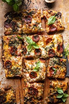 Cherry Tomato Sauce, Roasted Cherry Tomatoes, Sicilian Style Pizza, Half Baked Harvest, Good Pizza, Pizza Pizza, Sheet Pan, Vegetable Pizza, Main Dishes