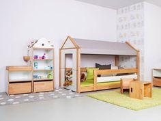 Kinderbett spielhaus  Spielbett BAUMHAUS - für kleine Abenteurer, inkl. Lattenrost ...