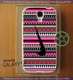 Nike Black on Wave Pattern Inca Design iPhone 4/4S/5, Samsung S4/S3/S2 cover cases | sedoyoseneng - Accessories on ArtFire