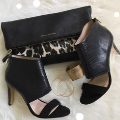 HP Louise et Cie Leather Heel Stunning STYLE CRUSH host pick!! Louise et Cie black leather sandal is classy with an edge. Pair them with dark skinnies or a pencil skirt. Brand new in box. No trades, no lowballing  Louise et Cie Shoes Heels