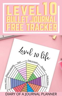 Improve your entire life with this genius free level 10 life bullet journal printable, where you can track and goal set for every aspect of your life! #level10life #Bulletjournalprintables #freeprintables #lifeplanner #planneraddict Bullet Journal Contents, Bullet Journal Tracker, Bullet Journal Printables, Bullet Journals, Day Planner Organization, Business Diary, Bullet Journal How To Start A, Day Planners, Bullet Journal Inspiration