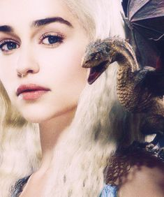 "Daenerys Targaryen played excellently by Emilia Clarke in ""Game of Thrones"""