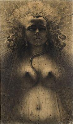 L'Ange du Bizarre – Le Romantisme noir de Goya à Max Ernst. - Auror' Art and Soul Jean Delville, Max Ernst, Idole, Bizarre, Mystique, Illustration, Pre Raphaelite, Poster Prints, Art Prints