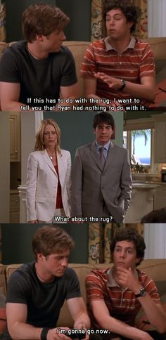 """""""What about the rug?"""" ....""""I'm gonna go now."""" #TheOC Season 1, #4: The Debut."""