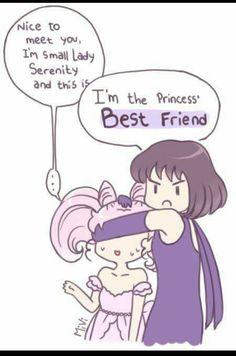 Hotaru has dibs! Saturn Chibi Moon Friendship