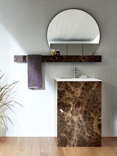 Mirror / bathroom wall shelf FILOLUCIDO by Rexa Design