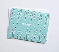 Ada patterned thank you card, set of 8
