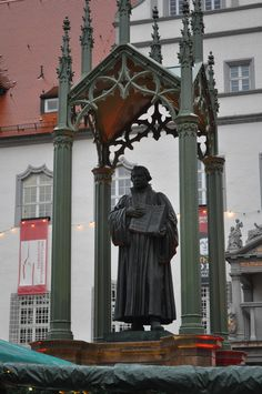 Martin Luther sculpture, Wittenberg, Germany.
