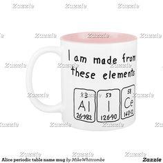 Chef periodic table word mug periodic table alice periodic table name mug urtaz Image collections