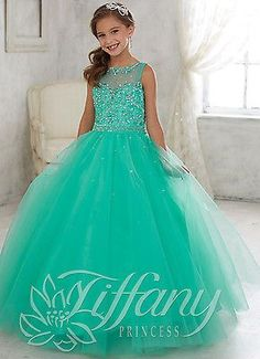 Tulle Flower Girl Kid Pageant Dance Ball Gown Princess Party Prom Birthday Dress