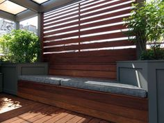 Roof Deck | Pergola | Urban | Garden | Landscape | Design | Planters | Ipe Screening | Bench