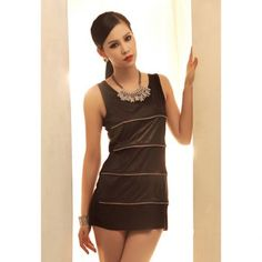 Casual Zipper Embellished Sleeveless 2013 Spring Tank Tops For Women Cheap Tank Tops, Clothing Sites, Sammy Dress, Black Tank Tops, Fashion Outfits, Summer Dresses, Casual, Cheap Wholesale, Clothes