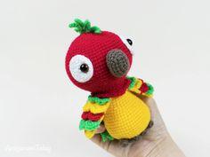 Mesmerizing Crochet an Amigurumi Rabbit Ideas. Lovely Crochet an Amigurumi Rabbit Ideas. Crochet Parrot, Crochet Birds, Crochet Motifs, Cute Crochet, Crochet Animals, Crochet Monkey, Crocheted Flowers, Crochet Stars, Crochet Elephant Pattern