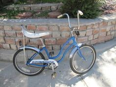 Image result for 1980s bike blue  banana seat