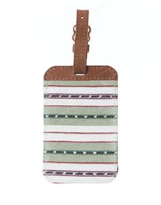 travel in style with this handwoven luggage tag from The Little Market!