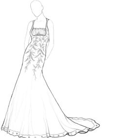 wedding dresses coloring pages Wedding Indexs Pinterest