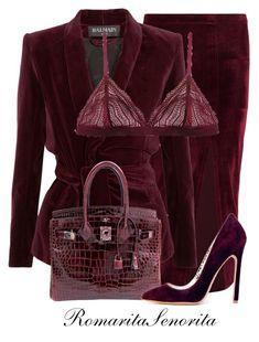 """Chic"" by romaritasenorita ❤ liked on Polyvore featuring Balmain, Cosabella and Hermès"
