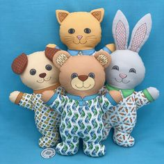 It is time to start sewing gifts for the Holidays. If you want fast, easy to sew projects, these toys are Cut and Sew fat quarter projects that you can order. Spoonflower is having a 2 for 1 fat quarter sale until November 9 at 11:59 p.m. EST. You cut, sew, and stuff the Pajama Animals following the directions on the panels. You can even add a gift card which will fit in the large back pockets.
