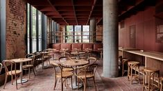 Ritz & Ghougassian reference brickwork for red-toned interiors of Bentwood cafe in Melbourne