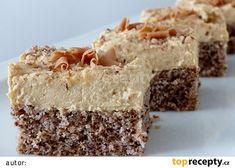 Ořechovo-karamelové řezy recept - TopRecepty.cz Czech Desserts, Sweet Desserts, Cream Cheese Flan, Condensed Milk Cake, 20 Min, Cheddar Cheese, Baked Goods, Sweet Tooth, Cheesecake