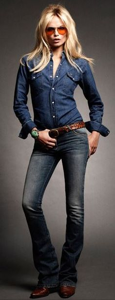 Brown: aviators, belts and boots <3 Denim on top & great pair of jeans on bottom .... sexy and hottie!