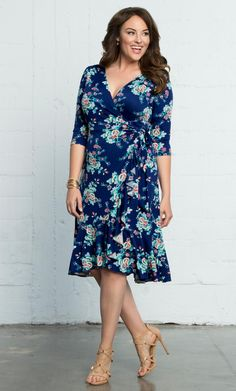 Check out the deal on Flirty Flounce Wrap Dress at Kiyonna Clothing (affiliate link)