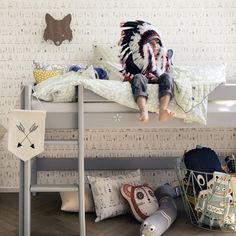 The Native wallpaper from Ferm Living is an modern wallpaper that will look great in any room. This wallpaper features an native Indian themed pattern of tepees