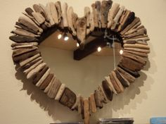 Check out our driftwood heart selection for the very best in unique or custom, handmade pieces from our shops. Driftwood Furniture, Driftwood Mirror, Diy Projects To Try, Crafts To Make, Heart Mirror, Mirror Mirror, Mirrors, Mr Price Home, I Love Heart