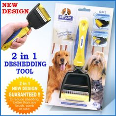 $38.99 ORIGINAL PROFESSIONAL PetCom 2 in 1 Easy To Clean FUR deShedding Tool minator Grooming Brush Pet Dog Cat combs DE-SHEDDING REMOVE UNDERCOAT HAIR . GOOD... - Functions and Features: This producct is a professional pet grooming tool, with the newest easy-switch dual heat design and Stainless steel deshedding edge, quickly and easily to use. Mainly used for pet's daily cleaning. It can effect ...