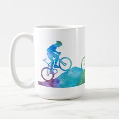 Three Color-Washed Mountain Bikers Coffee Mug   mountain biking quotes, bicycle quotes funny, car racing quotes #bikers #shoutout #bikerschick, 4th of july party Cycling T Shirts, Cycling Tips, Cycling Shoes, Mountain Biking Quotes, Bicycle Quotes, Biker Love, Biker Tattoos, Bicycle Women, 4th Of July Party