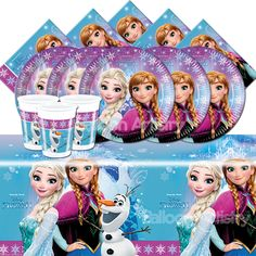 Disney's FROZEN Girl's Child's Birthday Party Tableware Pack Kit 8 - 32 Guests in Home, Furniture & DIY, Celebrations & Occasions, Party Supplies | eBay
