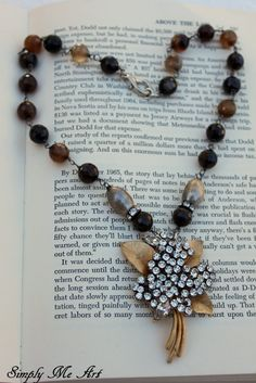 Vintage Rhinestone Pearl and Gemstone One of a Kind by simplymeart, $78.00