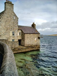 Lodberries - old warehouses in Lerwick, (The Shetland Islands) Scotland.