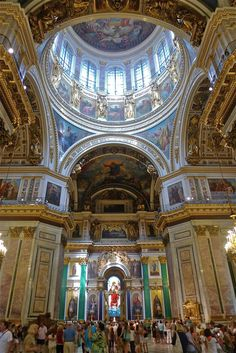 Interior of St. Isaac's Cathedral, St. Petersburg, Russia