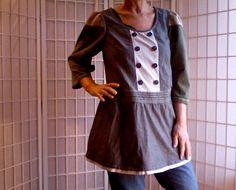53  Femine Lolita Mini Dress Jeans Topper Teen Women's by ArtzWear