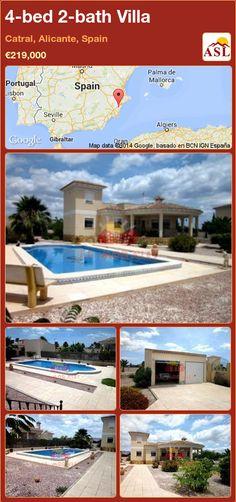 4-bed 2-bath Villa in Catral, Alicante, Spain ►€219,000 #PropertyForSaleInSpain