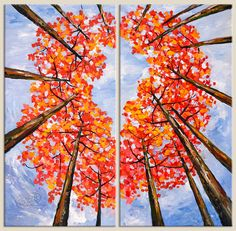 Looking Up, Fresh Fall Forest Art