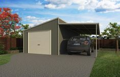 Skillion Garage with Lean-to 1