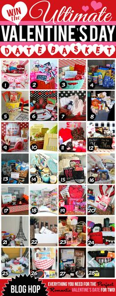 They're GIVING AWAY an ENTIRE date night basket for Valentine's Day! 28 winners! PINNING! www.TheDatingDivas.com