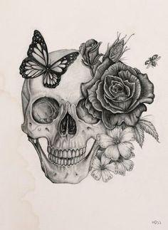 Rose&Skull by Boudos Simon, via Behance