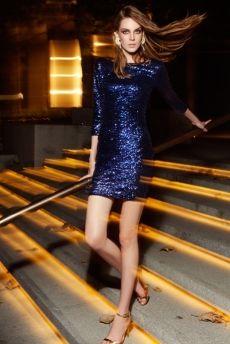 Connie Payetli Elbise Lacivert 1
