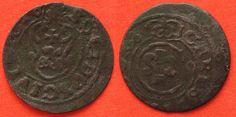 1633-1635 Elbing SWEDISH ELBING Schilling ND(1633-35) CHRISTINA billon VF # 88502 VF