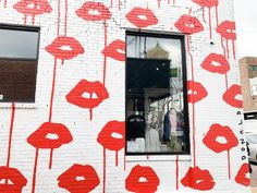"""Drippy Lips Mural 