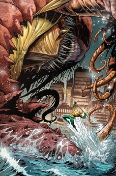 AQUAMAN #27 - Written by JEFF PARKER / Art by PAUL PELLETIER, NETHO DIAZ and SEAN PARSONS / Cover by PAUL PELLETIER and SEAN PARSONS | Comic Book Resources