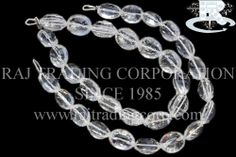 http://www.rajtradingcorp.com/catlog.aspx?mid=2&cid=119&subid=347Crystal Quartz Concave Cut Oval (Quality AAA) Shape: Oval Concave Cut Length: 18 cm Weight Approx: 15 to 17 Grms. Size Approx: 8.5x10.5 to 10x12 mm Price $47.40 Each Strand