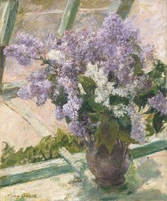 Mary Cassatt: Lilacs in a Window.  Professional Artist is the foremost business magazine for visual artists. Visit ProfessionalArtistMag.com.- www.professionalartistmag.com